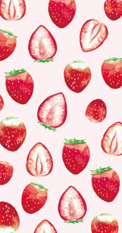 strawberry watercolor #wallpaper #watercolor