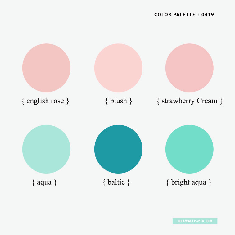 Color Inspiration : Aqua + Baltic + Blush + English Rose { Pantone Inspired } #pantone #color