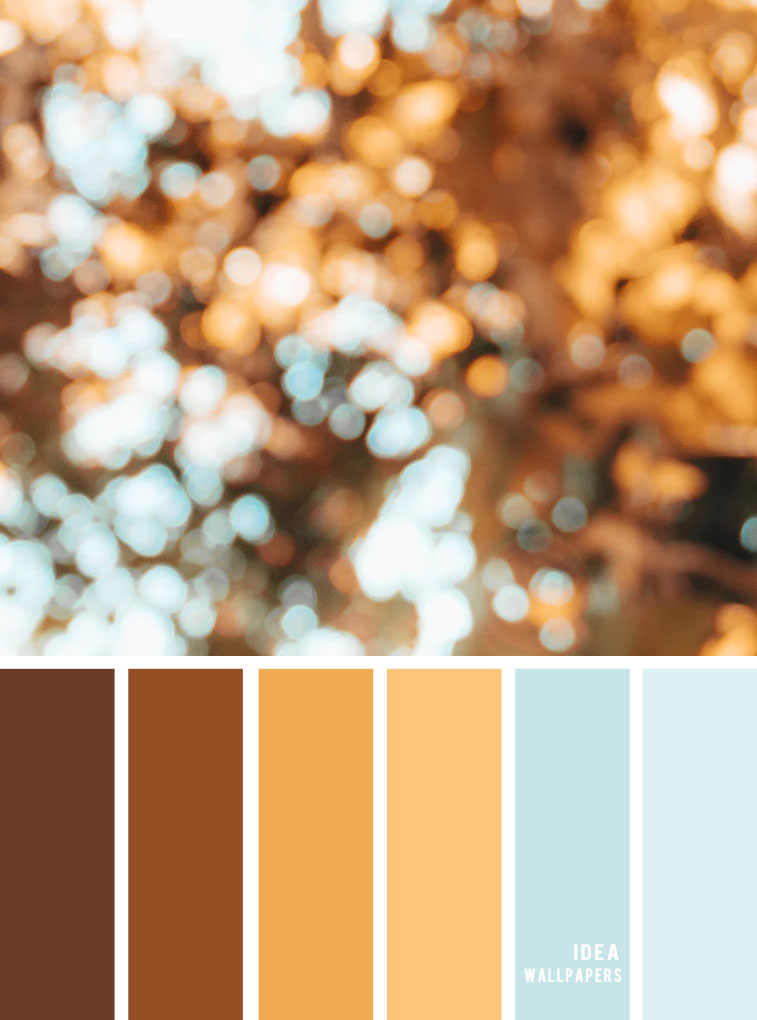Color Inspiration : Golden brown + blue #color #pantone #goldenbrown #light #colors