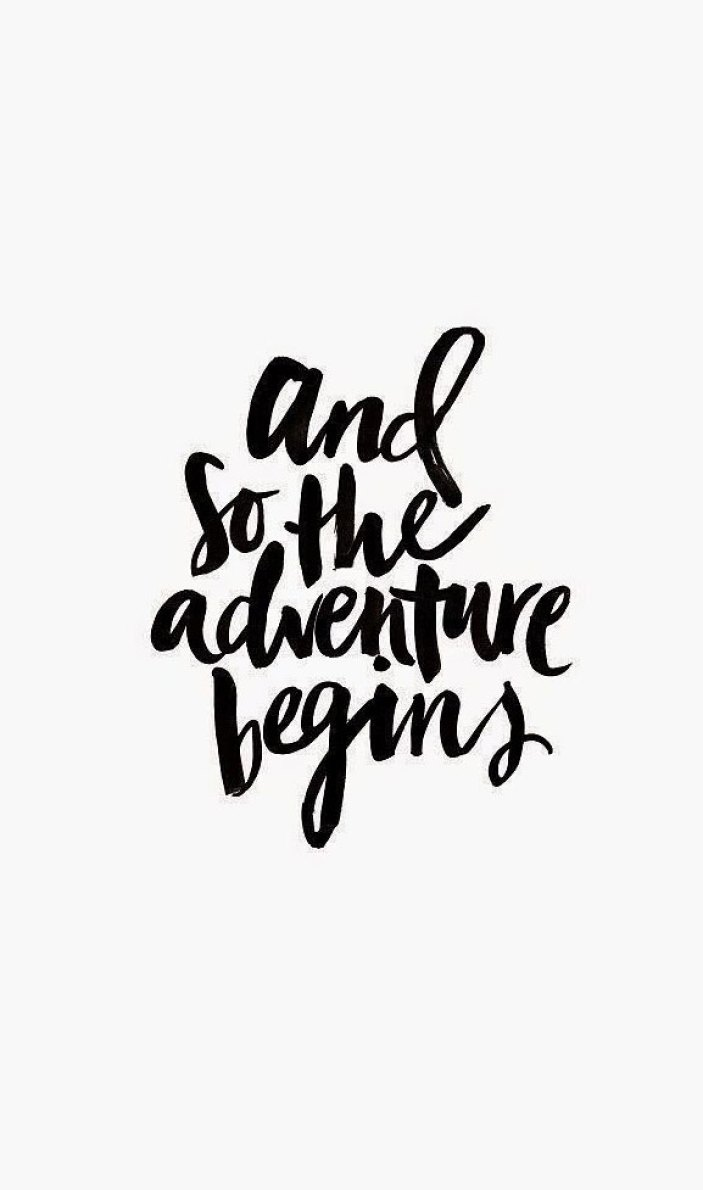 34 positive inspiration quotes - And so the adventure begins - positive quote #quote