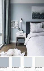Bedroom Blue Grey Color Palette Jardim Pequeno