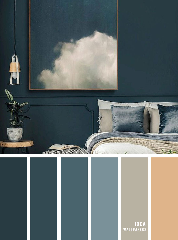 25 Best Color Schemes For Your Bedroom Dark Blue With Sand Accents Idea Wallpapers Iphone Wallpapers Color Schemes