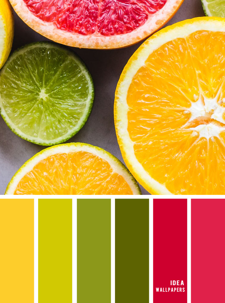 Color Inspiration : Lime + Red + Yellow Color Combos #color #pantone #lime #yellow