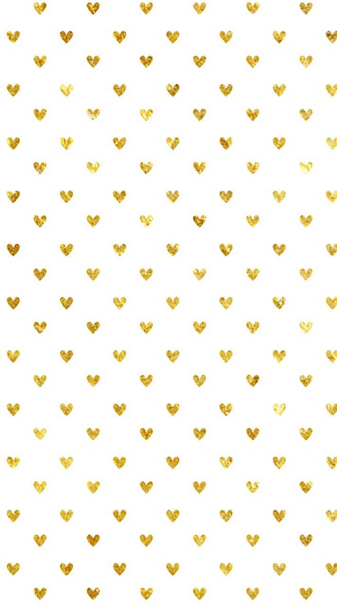 Cute gold heart iphone wallpaper , background