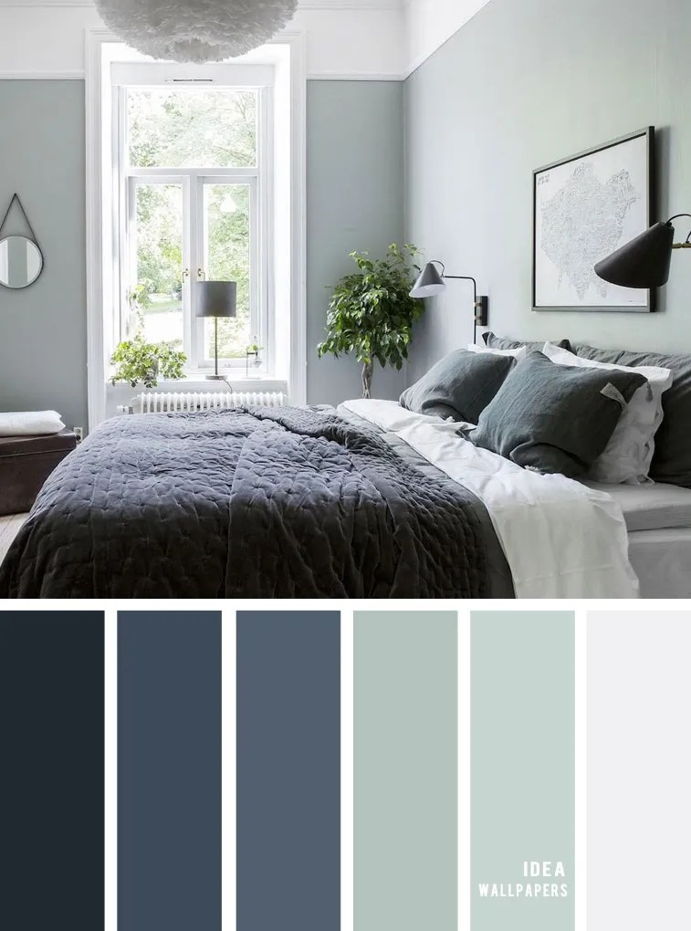 Sage And Dark Blue Bedroom 25 Best Color Schemes For Your Bedroom