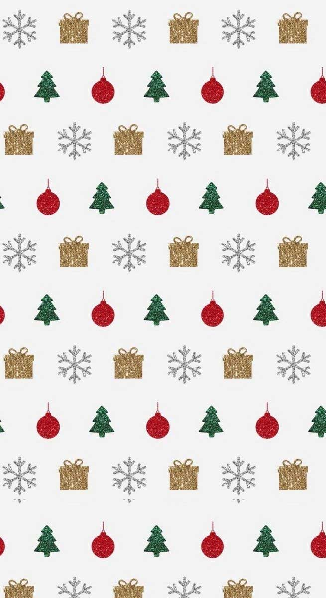 Christmas Illustrations Gold Red And Green Idea
