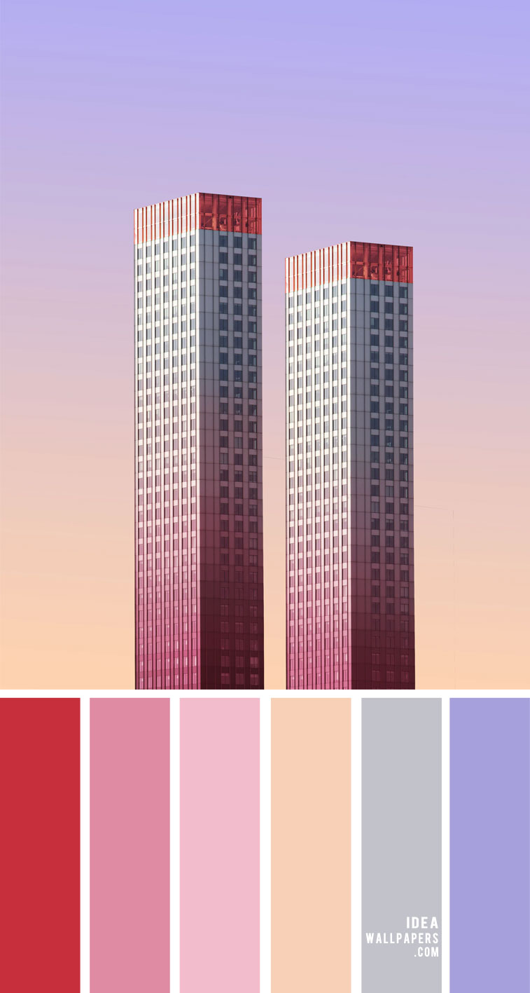 ombre pink, ombre pink peach lilac and grey color scheme, color palette, ombre pink color scheme, pink and peach color scheme, ombre pink and peach color combo