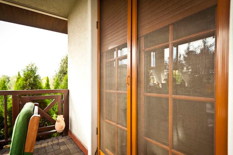 Moskitiera drzwiowa złoty dąb