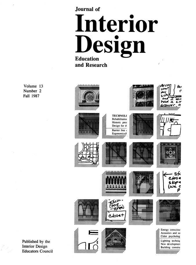 Journal of Interior Design: Evolution of a Profession