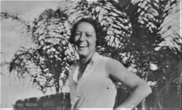 Vibrancy of my mother Nelly Dean, super athlete, shines through in this picture.