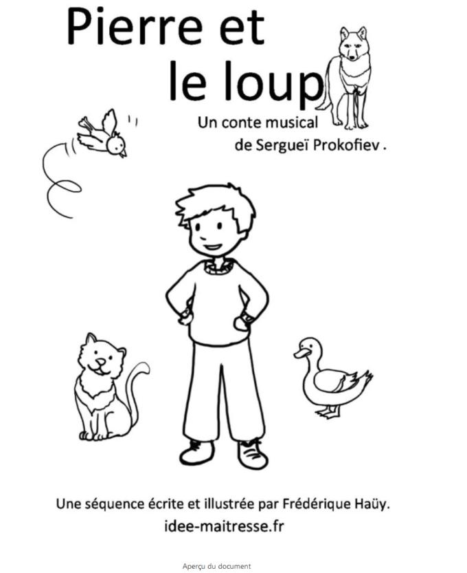 Pierre Et Le Loup Ce1 : pierre, Pierre, Idée, Maîtresse,, éditions, équitables, Ressources, Pédagogiques
