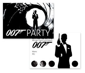 Kostenlose stilvolle Einladungen fr James Bond Party  Ideen Mottoparty