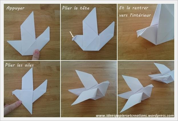 Colombe Origami Ides Papiers Et Crations