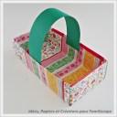 panier en papier pour Pâques