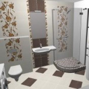 Model de baie cu decoratiuni din faianta modele florale