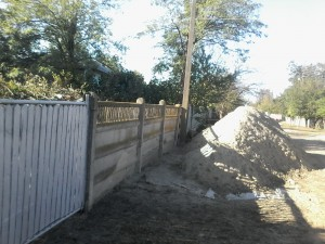 gard placi beton vechi