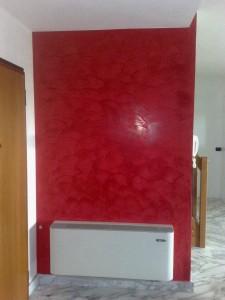 red stucco veneziano