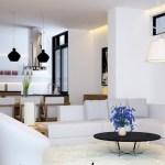 sufragerie alba stil asiatic