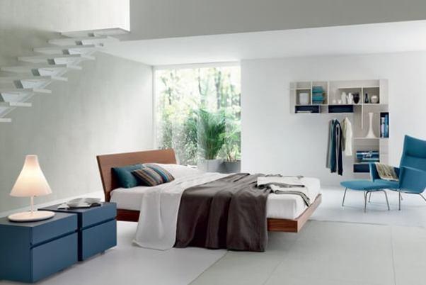 dormitor mare imens alb maro