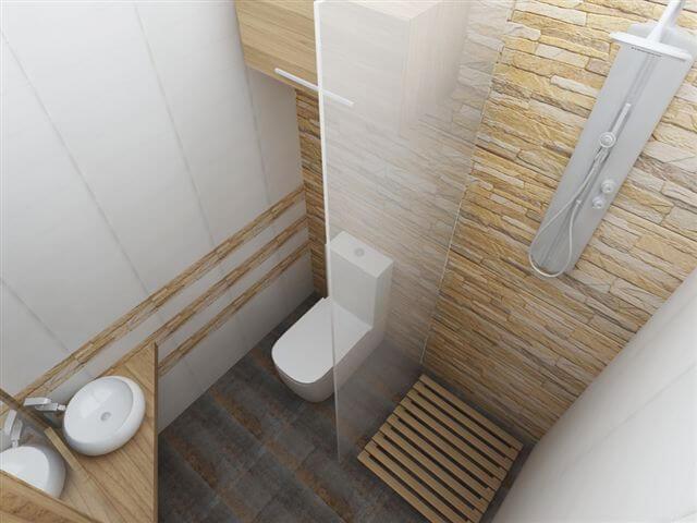 baie pentru dormitor mica