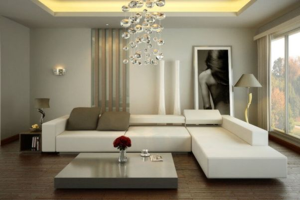 combinatie living room alb
