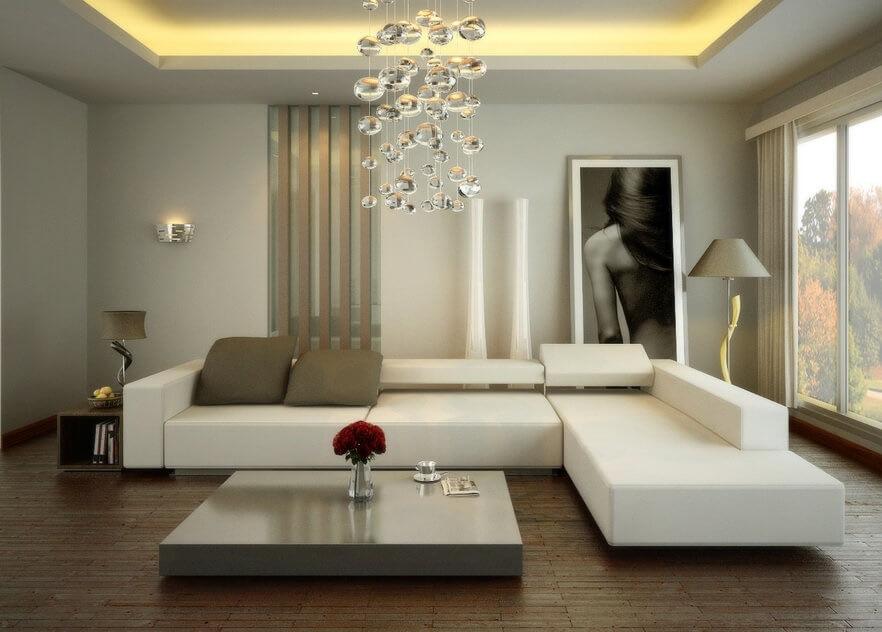 combinatie living room alb
