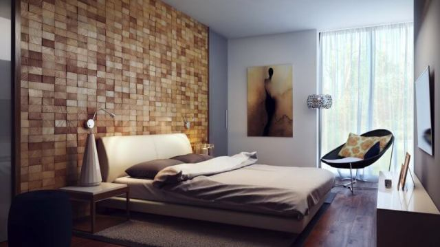 dormitor lemn natural