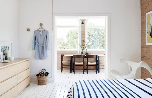 dormitor scandinav alb