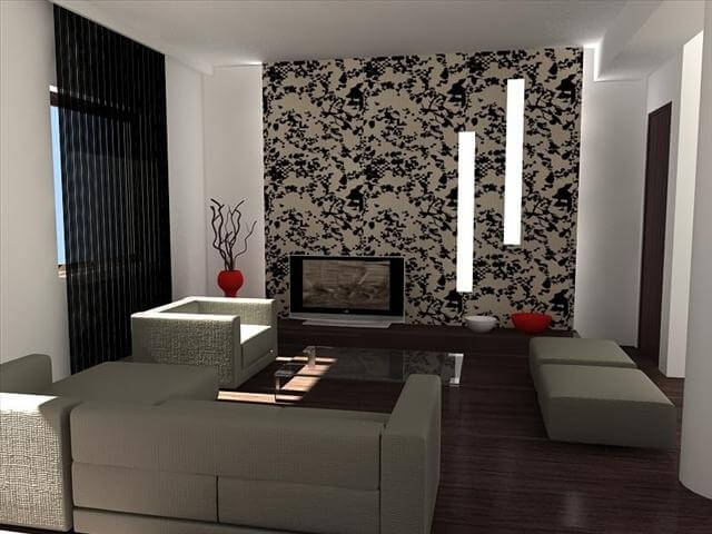 tapet living room