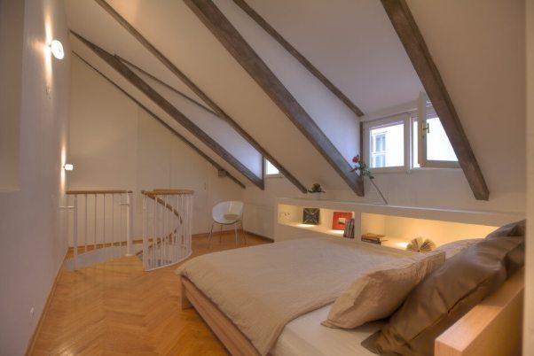 dormitor modern la mansrda