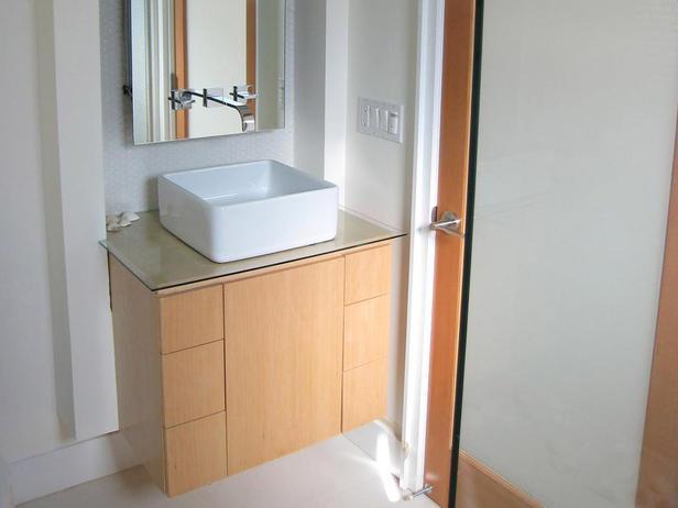 chiuveta dreptunghiulara in baie