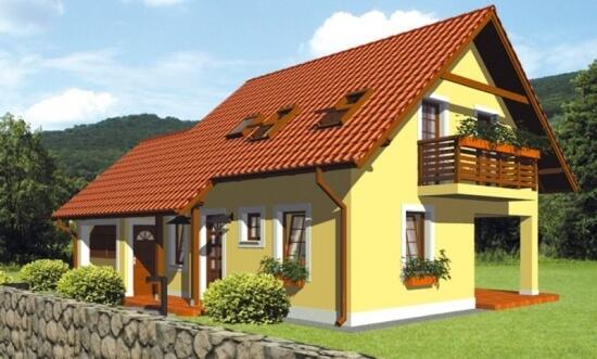 Proiect casa mica cu mansarda cei 130 mp utili te vor for Casa la tara ieftina