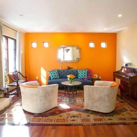 portocaliu living room