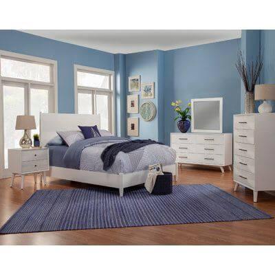 dormitor alb albastru clasic