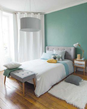 dormitor apartament alb albastru