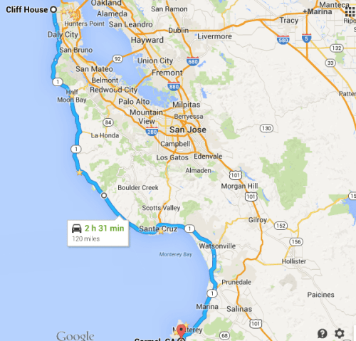 Mapa: San Francisco - Carmel