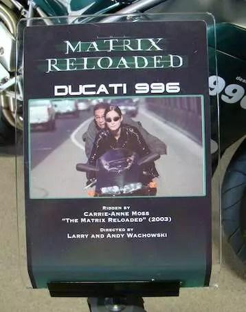 Ducati 966 - Matrix no Museu da Warner