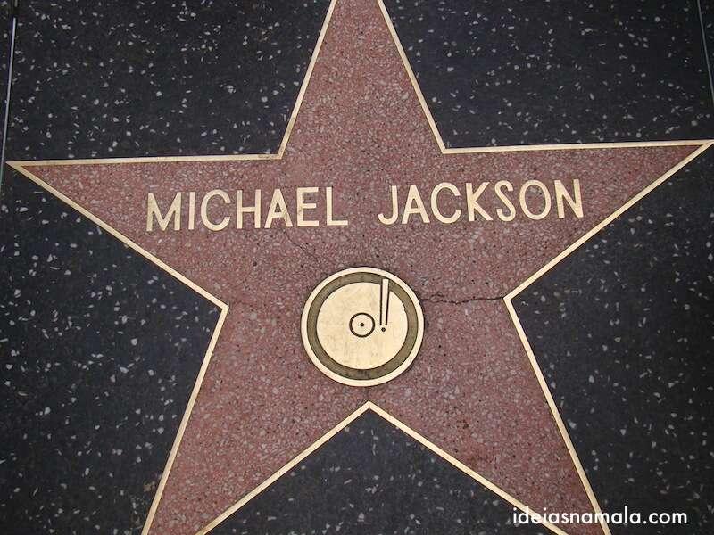 estrela na calçada da fama- Hollywood
