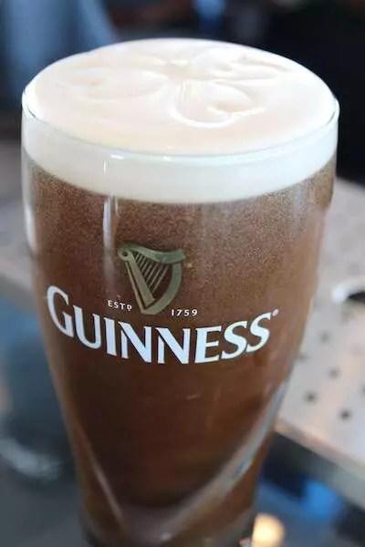 Degustação de cerveja na Guinness Storehouse