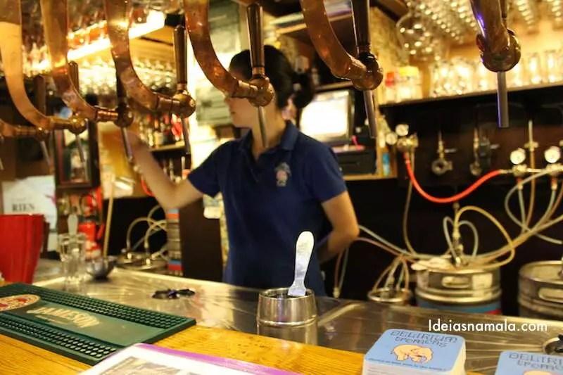 Delirium - cerveja no balcão