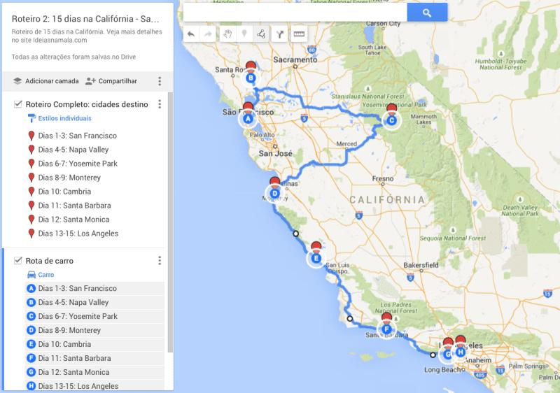 Roteiro 2: 15 dias na Califórnia