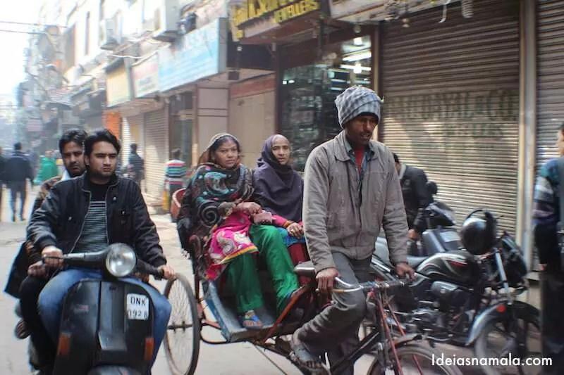 Mercado em Old Delhi
