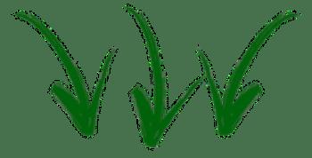 setas para baixo verde