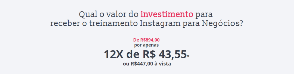 valor do investimentoi