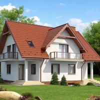 Proiect de casa cu mansarda de 167 mp suprafata utila