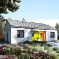 Proiect casa mica de 69 mp utili. Planuri si imagini fabuloase din interior