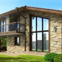 Proiect casa moderna cu mansarda in suprafata de 130 mp