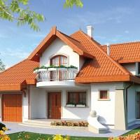 Proiect de casa cu mansarda pentru o familie de 4-5 persoane!