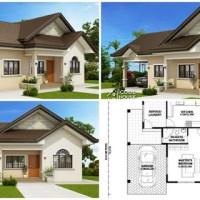 Proiect casa moderna cu 3 dormitoare, doua bai si garaj