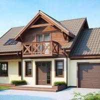 Proiect casa economica cu mansarda si garaj